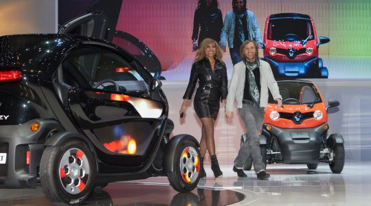 Cathy and David Guetta as Renault Twizy ambassadors